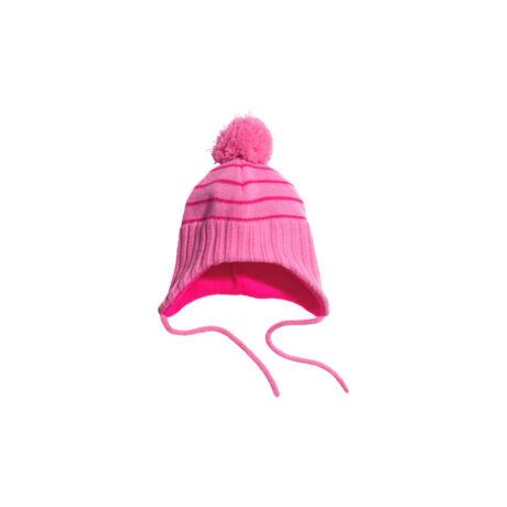 H&M rózsaszín csíkos sapka (74-80)