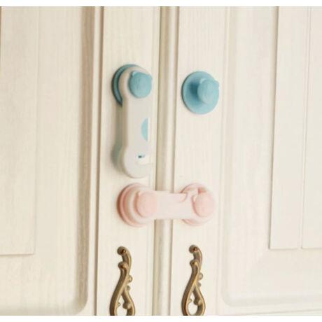 Rózsaszín - Biztonsági gyerekzár (ajtóra, szekrényre, fiókra)