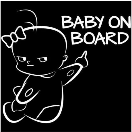 Baby on board autós matrica