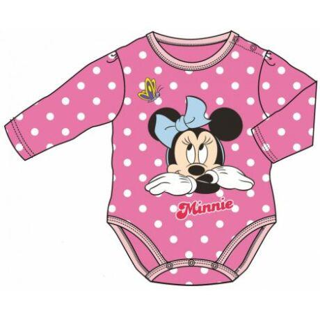 Disney Minnie hosszú ujjú body (62-68)