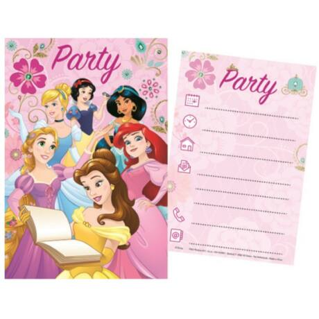 Disney Hercegnők Party Meghívó