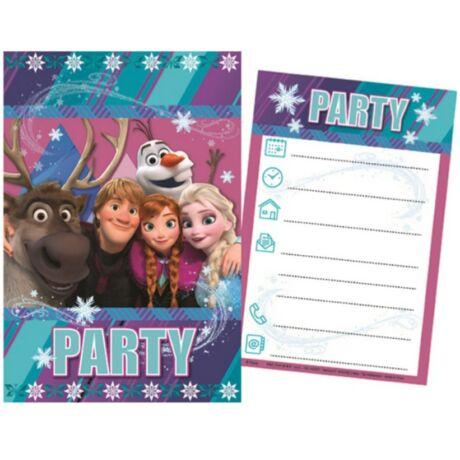 Disney Jégvarázs Party Meghívó