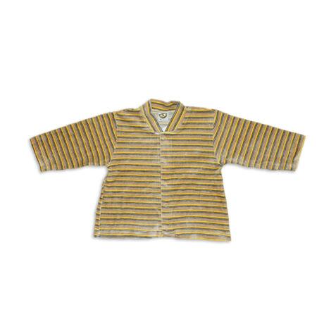 Kenguru Gold barna-sárga-kék csíkos kocsikabát (80)